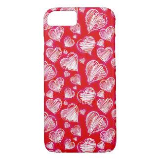 Heart Sketch iPhone 8/7 Case