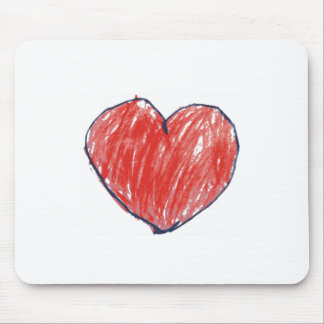 Heart Sketch Mouse Pad