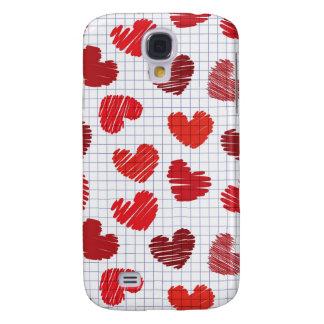 Heart Sketch Samsung Galaxy S4 Cover