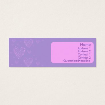 Professional Business Heart Skinny Card
