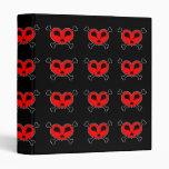 Heart Skull & Crossbones Tiled Binder