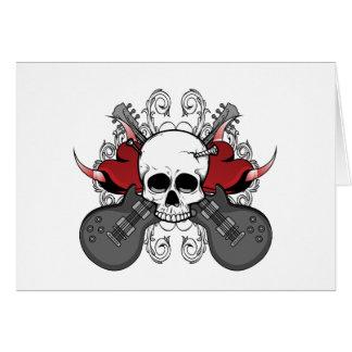 Heart Skull Guitar Card