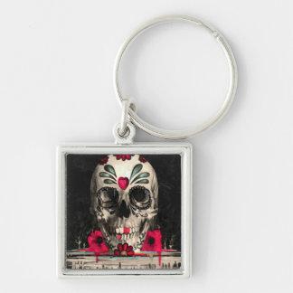 Heart Skull Keychain