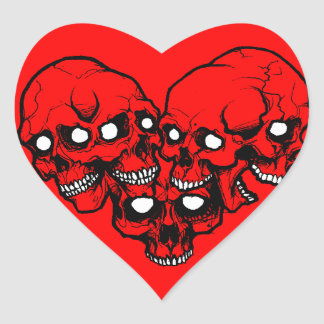 Heart Skull Sticker