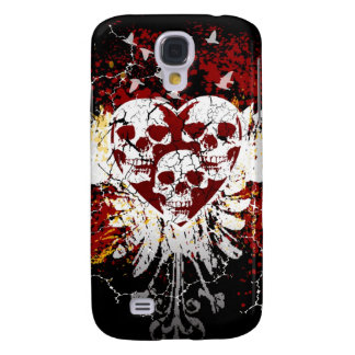 Heart Skulls iphone 3G or 3GS Hard Case Samsung Galaxy S4 Cover