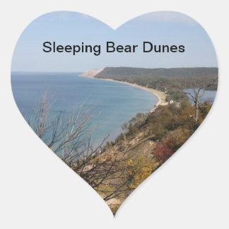 Heart Sleeping Bear Dunes Stickers
