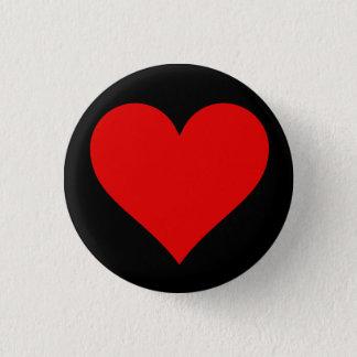 'Heart' Small button - white