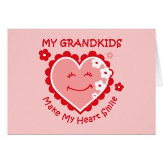 Heart Smile Grandkids Notecard Greeting Card