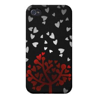 Heart snowfall iPhone 4/4S case