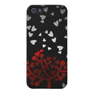 Heart snowfall iPhone 5 cases