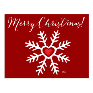 Heart Snowflake Christmas | berry Postcard