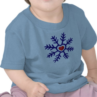 Heart Snowflake Christmas | navy red Shirt