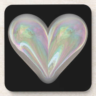 heart soap bubble coaster