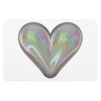 heart soap bubble magnet