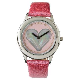 heart soap bubble watch