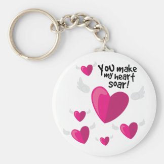 Heart Soar Basic Round Button Keychain