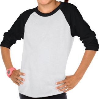 Heart Softball Girls' 3/4 Sleeve Raglan Shirt