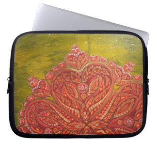 """""""Heart Space"""" Laptop Case (Painted At Burning Man) Laptop Computer Sleeves"""