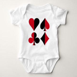 Heart Spade Diamond Club Baby Bodysuit