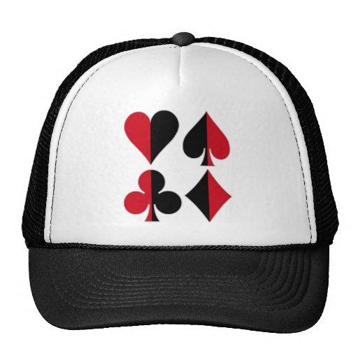 Heart Spade Diamond Club Trucker Hat