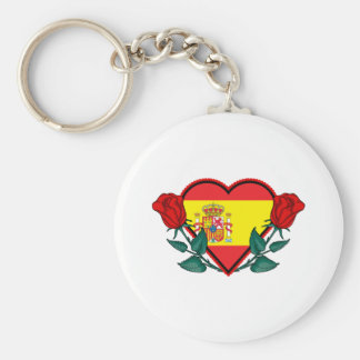 Heart Spain Keychain