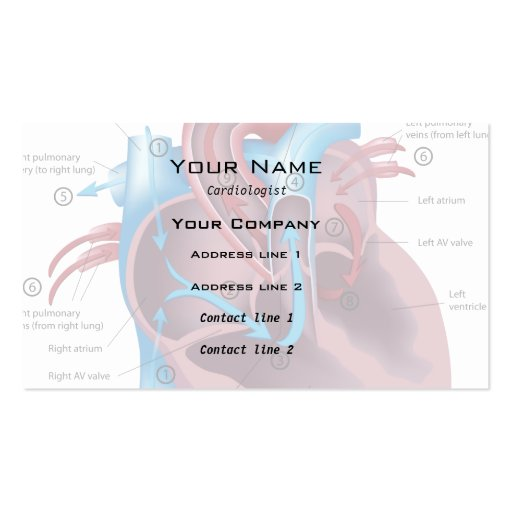 Heart specialist Business Card