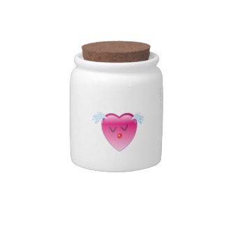 Heart Splash Candy Jar