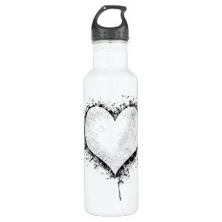 Heart Splatter Water Bottle