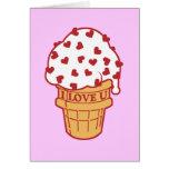 Heart Sprinkle Ice Cream Cone Card