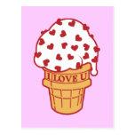 Heart Sprinkle Ice Cream Cone Postcards