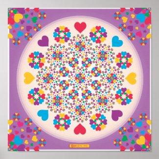 Heart Sprinkles Mandala! print