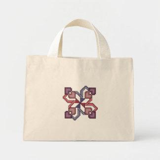 Heart Square Cross Stitch Canvas Bag