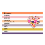 HEART SQUARED Double-Sided STANDARD BUSINESS CARDS (Pack OF 100)