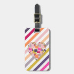 HEART SQUARED LUGGAGE TAGS