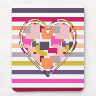 HEART SQUARED MOUSE PAD