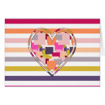 HEART SQUARED STATIONERY NOTE CARD