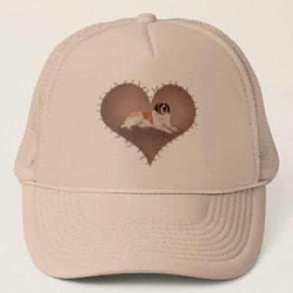 Heart St Bernard Trucker Hat