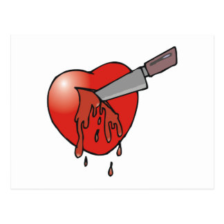 Heart Stabbing Postcard