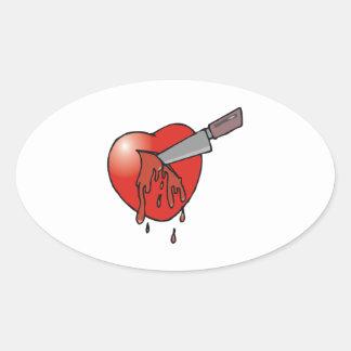 Heart Stabbing Stickers