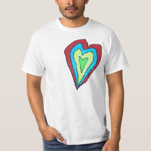 heart stained glass shirt