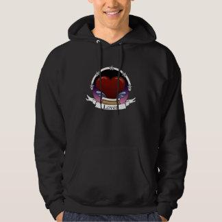 heart star badge pullover