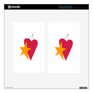 Heart & Star Decals For Kindle Fire