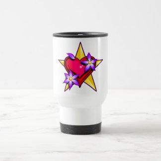 Heart Star Design Mugs