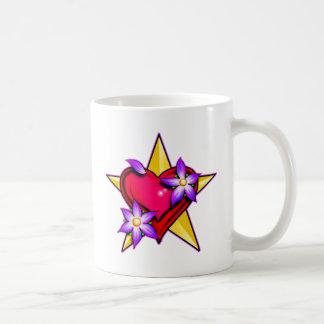 Heart Star Design Coffee Mugs