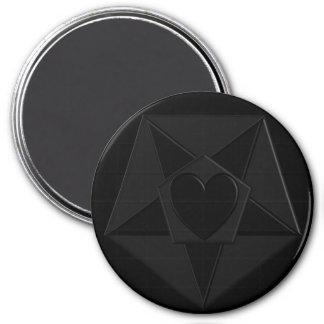 Heart & Star Gothic Pentathing Magnet