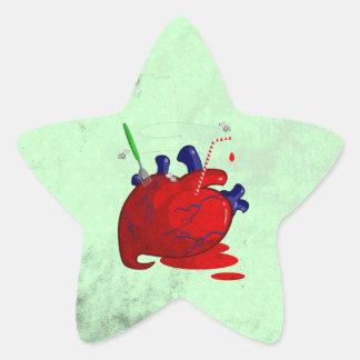 Heart Star Sticker