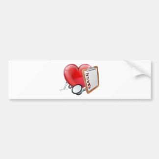 Heart Stethoscope Clipboard Medical Concept Bumper Sticker