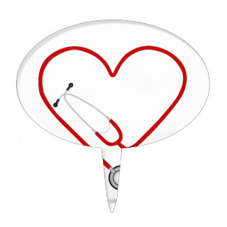 heart stethoscope jpg cake toppers