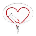 heart stethoscope.jpg cake toppers