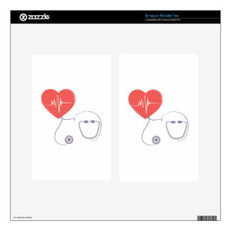 Heart Stethoscope Kindle Fire Decal